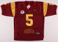 Reggie Bush Signed USC Trojans Rose Bowl Career Highlight Stat Jersey (JSA Hologram & GTSM Hologram) at PristineAuction.com