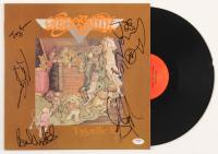 "Aerosmith ""Toys In The Attic"" Vinyl Record Cover Band-Signed by (5) with Steven Tyler, Tom Hamilton, Joey Kramer, Joe Perry, & Brad Whitford (PSA Hologram) at PristineAuction.com"