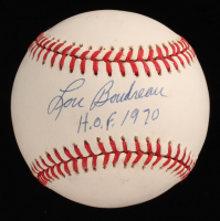 "Lou Boudreau Signed OAL Baseball Inscribed ""H.O.F. 1970"" (JSA COA) at PristineAuction.com"