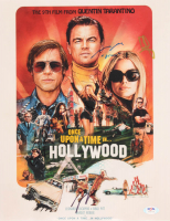 """Once Upon a Time in Hollywood"" 11x14 Photo Signed by (5) with Brad Pitt, Leonardo DiCaprio, Quentin Tarantino, Margot Robbie & Mike Moh Inscribed ""Bruce"" (PSA Hologram) at PristineAuction.com"