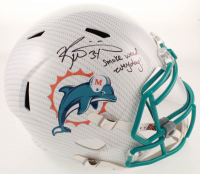 "Ricky Williams Signed Dolphins Full-Size Hydro-Dipped Speed Helmet Inscribed ""Smoke Weed Everyday"" with Silver Visor (JSA COA) at PristineAuction.com"