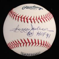 "Reggie Jackson Signed OML Hall of Fame Logo Baseball Inscribed ""HOF 93"" (JSA COA) at PristineAuction.com"