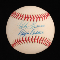Ralph Branca & Bobby Thomson Signed ONL Baseball (JSA COA) at PristineAuction.com