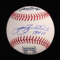 "Jeff Bagwell Signed OML Hall of Fame Logo Baseball Inscribed ""HOF 17"" (JSA COA) at PristineAuction.com"
