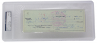Vince Lombardi Signed Vintage 1960 Personal Bank Check (PSA Encapsulated) at PristineAuction.com
