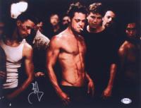 "Brad Pitt Signed ""Fight Club"" 11x14 Photo (PSA COA) at PristineAuction.com"