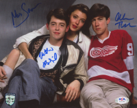 "Matthew Broderick, Mia Sara, & Alan Ruck Signed ""Ferris Bueller's Day Off"" 8x10 Photo (PSA LOA) at PristineAuction.com"