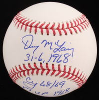"Denny McLain Signed OML Baseball Inscribed "" 31-6 1968"", ""Cy 68 / 69"" & ""MVP 1968"" (JSA COA) at PristineAuction.com"
