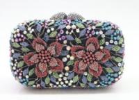 Swarovski Crystal Element Silver Lined Handbag at PristineAuction.com