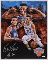 Kevin Knox Signed Knicks 16x20 Print On Canvas (JSA COA) at PristineAuction.com
