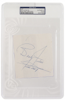 """Willie Mays Signed Cut Inscribed """"Best Wishes"""" (PSA Encapsulated) at PristineAuction.com"""