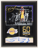 "Kobe Bryant Lakers ""60 Points 4.13.16 Final Game"" 10.5x13 Custom Photo Plaque Display at PristineAuction.com"