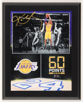 """Kobe Bryant Lakers """"60 Points 4.13.16 Final Game"""" 10.5x13 Custom Photo Plaque Display at PristineAuction.com"""
