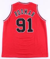 "Dennis Rodman Signed Jersey Inscribed ""3 Peat"" (TriStar Hologram) at PristineAuction.com"