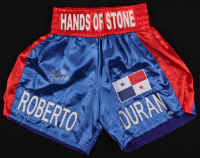 Roberto Duran Signed Boxing Trunks (Beckett COA) at PristineAuction.com