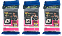 Lot of (3) 2019-20 Panini Donruss Optic Basketball Cello Packs of (15) Card Each - 3 Blue Velocity Prizm Each! at PristineAuction.com