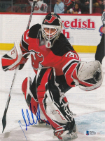 Martin Brodeur Signed Devils Magazine Page (Beckett COA) at PristineAuction.com