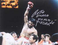"Roberto Duran Signed 11x14 Photo Inscribed ""Manos De Piedra"" (PSA COA) at PristineAuction.com"