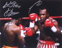 "Thomas ""Hitman"" Hearns & Sugar Ray Leonard Signed 11x14 Photo (PSA COA) at PristineAuction.com"