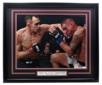 "Tony Fergunson Signed UFC 22x27 Custom Framed Photo Inscribed ""El Cucuy"" (PSA COA) at PristineAuction.com"