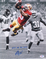 """NaVorro Bowman Signed 49ers 11x14 Photo Inscribed """"Pick at The Stick"""" (PSA COA) at PristineAuction.com"""