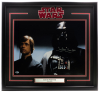 "Dave Prowse Signed ""Star Wars"" 22x29 Custom Framed Photo Display Inscribed ""Darth Vader"" (Steiner COA) at PristineAuction.com"