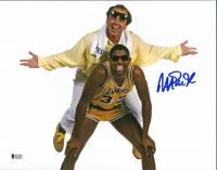 Magic Johnson Signed Lakers 11x14 Photo (Beckett COA) at PristineAuction.com