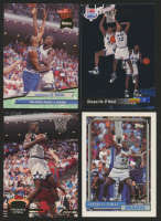 Lot of (4) Shaquille O'Neal Rookie Basketball Cards with 1992-93 Stadium Club #247 RC, 1992-93 Topps #362 RC, 1992-93 Ultra #328 RC & 1992-93 Upper Deck #1 RC / NBA First Draft Pick at PristineAuction.com