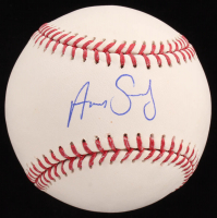 Aaron Sanchez OML Baseball (Sids Graphs COA) at PristineAuction.com