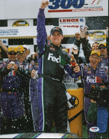 Denny Hamlin Signed NASCAR 11x14 Photo (PSA COA) at PristineAuction.com
