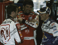 Jamie McMurray, Kasey Kahne & Elliott Sadler Signed NASCAR 11x14 Photo (PSA COA) at PristineAuction.com