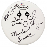 Alice Cooper Drum Head Signed by (4) with Alice Cooper, Michael Bruce, Dennis Dunaway & Neal Smith (Beckett LOA) at PristineAuction.com
