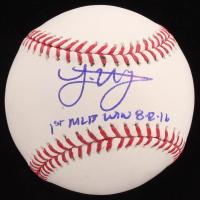 "Joe Musgrove Signed OML Baseball Inscribed ""1st MLB Win 8-12-16"" (JSA COA) at PristineAuction.com"