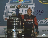Trevor Bayne Signed 11x14 Photo (PSA COA) at PristineAuction.com