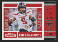 Patrick Mahomes II 2017 Panini Contenders Draft Picks Game Day Tickets #15 at PristineAuction.com