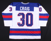 "Jim Craig Signed Jersey Inscribed ""1980 Olympics"" & ""Gold Medal"" (Beckett COA) at PristineAuction.com"