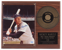 Mickey Mantle Signed Yankees 12x15 Custom Photo Plaque Display (SOP LOA) at PristineAuction.com