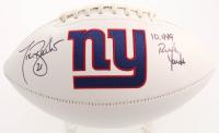 "Tiki Barber Signed Giants Logo Football Inscribed ""10,449 Rush Yards"" (JSA COA) at PristineAuction.com"