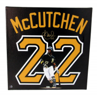 Andrew McCutchen Signed Pirates 18x18 Stretched Canvas Print (MLB Hologram) at PristineAuction.com