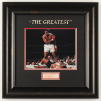 Muhammad Ali Signed 18x18 Custom Framed Cut Display (JSA LOA) at PristineAuction.com
