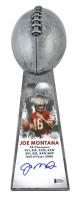"Joe Montana Signed 49ers 15"" Lombardi Trophy (Beckett COA) at PristineAuction.com"