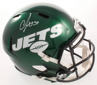 C.J. Mosley Signed Jets Full-Size Speed Helmet (JSA COA) at PristineAuction.com