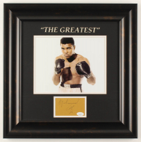 "Muhammad Ali Signed 18x18 Custom Framed Cut Display Inscribed ""86"" (JSA LOA) at PristineAuction.com"