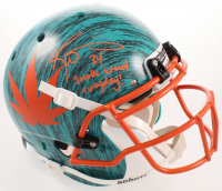 "Ricky Williams Signed Full-Size Authentic On-Field Hydro-Dipped Helmet Inscribed ""Smoke Weed Everyday!"" (JSA COA) at PristineAuction.com"