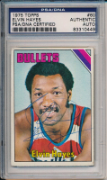 Elvin Hayes Signed 1975-76 Topps #60 (PSA Encapsulated) at PristineAuction.com