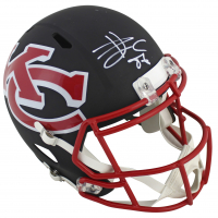 Travis Kelce Signed Chiefs AMP Alternate Full-Size Speed Helmet (Beckett COA) at PristineAuction.com