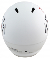 """Travis Kelce Signed Chiefs Full-Size Matte White Speed Helmet Inscribed """"SB LIV Champ"""" (Beckett COA) at PristineAuction.com"""