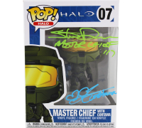 "Steve Downes & Jen Taylor Signed ""Halo"" #7 Master Chief Funko Pop! Vinyl Figure Inscribed ""Master Chief 117"" & ""Cortana"" (Radtke COA) at PristineAuction.com"