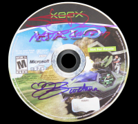 "Steve Downes & Jen Taylor Signed ""Halo"" Xbox Video Game Disc Inscribed ""Master Chief 117"" & ""Cortana"" (Radtke COA) at PristineAuction.com"