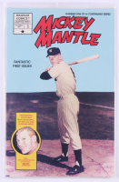 "1991 ""Mickey Mantle"" Issue #1 Sealed Magnum Comic Book with Cards Factory Sealed at PristineAuction.com"